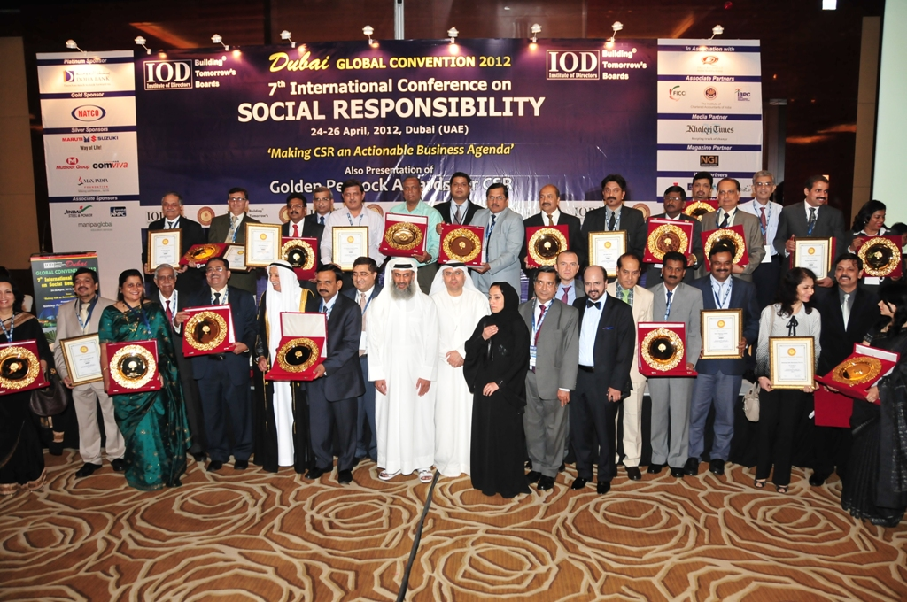 Golden Peacock Awards for CSR presented in the UAE